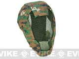"Matrix Iron Face Carbon Steel ""Striker"" Gen4 Metal Mesh Full Face Mask - Digital Woodland"