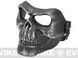 Matrix Cacique Plastic Skull Face Shield - (Silver / Grey)