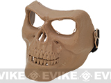 z Matrix Cacique Plastic Skull Face Shield - (Tan)