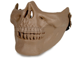 Matrix Skull Iron Face Lower Half Mask (Tan)