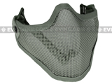 "Matrix Iron Face Carbon Steel ""Striker"" Metal Mesh Lower Half Mask (Ranger Green)"