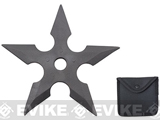 Hero's Edge 5 Point Rubber Throwing Star with Pouch