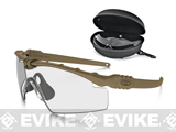 Oakley SI Ballistic M Frame 3.0 Strike Array Shooting Glasses (Color: Dark Bone / Clear, Smoke Grey Lenses)