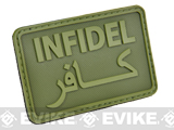 Hazard 4 Infidel Rubber Hook and Loop PVC Morale Patch (Color: OD Green)