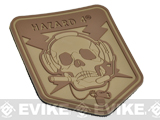 Hazard 4 Spec Op Skull Rubber Hook and Loop Patch (Color: Coyote)