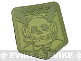 Hazard 4 Spec Op Skull Rubber Hook and Loop Patch (Color: OD Green)