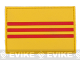 PVC Hook and Loop International Flag Patch (Flag: Republic of Vietnam)