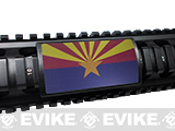 Custom Gun Rails Large State Flag Aluminum Rail Cover (State: Arizona)