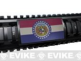 Custom Gun Rails (CGR) Large  Aluminum Rail Cover - Missouri  State Flag
