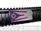 Custom Gun Rails (CGR) Large  Aluminum Rail Cover - Ohio  State Flag