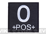 Matrix 2x2 Black Square Military Blood Type Patch - O POS