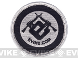 Evike.com Circle Hook & Loop Patch (Black/Grey)