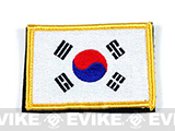 Matrix Country Flag Series Embroidered Morale Patch (Country: Korea)