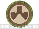 Magpul Dynamics Logo Circle Hook and Loop Patch (OD Green / Dark Earth)