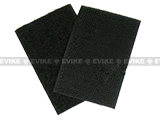 "Matrix Military Velcro Set 2""x3"" ( One Male / One Female ) - Black"
