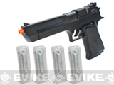 Desert Eagle Licensed Magnum 44 Airsoft Pistol with 4 Extra Magazines by KWC / Softair