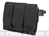 Matrix Tactical Drop Leg Triple Magazine Pouch Leg Platform - Black