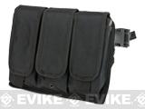 Matrix Tactical Drop Leg Triple Magazine Pouch Leg Platform (Color: Black)