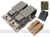 Tactical MOLLE Double Pistol Magazine Pouch - ACU