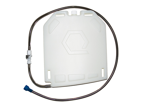 Qore Performance IcePlate Cooling/Hydration Plate (Color: White / QD Hose Connection)