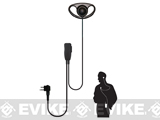 Code Red Headsets Quest One-Wire D-Ring Microphone w/ PTT - Motorola 2 Pin