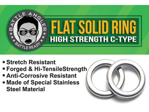 Battle Angler Steel Flat Solid Ring Pack of 20 pcs