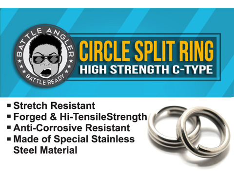 Battle Angler Steel Circle Split Ring Pack of 20 pcs (Size: 7mm / 123 LBS)