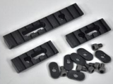 Triple Rail Set w/ Screws for Magpul PTS MOE / MASADA / ACR Handguards - Black