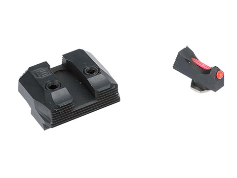 Salient Arms International - SAI Fiber Optic Front w/ Blacked Out Rear Replacement Sights for GLOCK Pistols