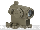 Avengers T1 Micro Reflex Red & Green Dot Sight / Scope w/ QD Riser (Color: Tan)