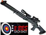 UTG Multi-Burst M4 90 Super Airsoft Riot Shotgun - Retractable Stock / CQC Barrel