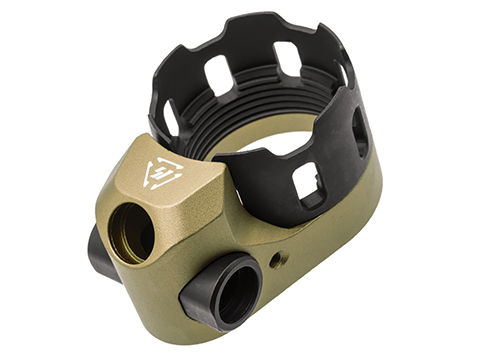 Strike Industries TRIBUS AR Enhanced Castle Nut & Extended End Plate (Color: Flat Dark Earth)