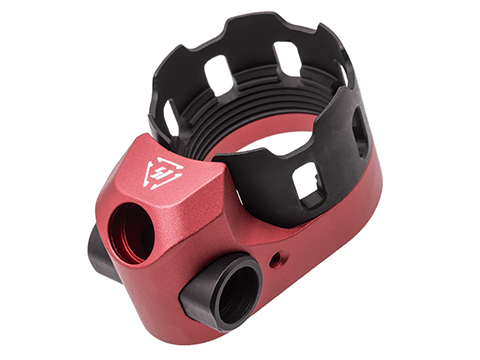 Strike Industries TRIBUS AR Enhanced Castle Nut & Extended End Plate (Color: Red)