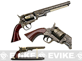13 Collectible Western Style Revolver with Stand - Brass