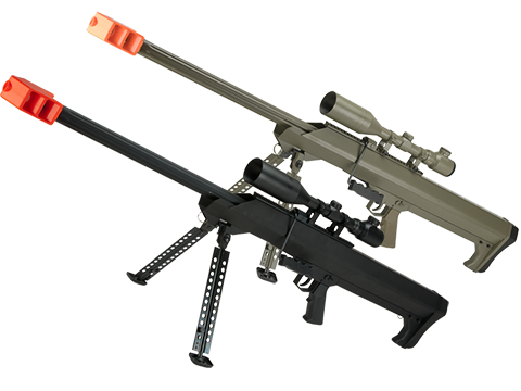 6mmProShop Barrett Licensed M99 Bolt Action Airsoft Long Range Sniper Rifle (Package: Black / Rifle & Bipod Only)