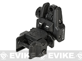 Dual-Profile Rhino Flip-up Rifle / SMG Sight by Evike - Rear Sight / Black