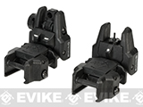 Dual-Profile Rhino Flip-up Rifle / SMG Sight by Evike - Front & Rear / Black