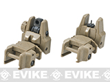 Dual-Profile Rhino Flip-up Rifle / SMG Sight by Evike - Front & Rear / Dark Earth