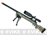 Snow Wolf US Army Style M24 Airsoft Bolt Action Scout Sniper Rifle - Hunter Camo