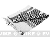 Matrix Woven Coalition Desert Shemagh / Scarves - (Black / White)