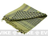 Matrix Woven Coalition Desert Shemagh / Scarves - (Green / Black)