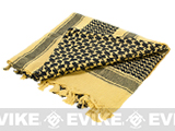 Matrix Woven Coalition Desert Shemagh / Scarves - (Tan / Black)