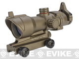 Matrix Illuminated Red & Green Dot Non-Magnified Scope with Iron Sights for Airsoft (Color: Desert Tan Dark Earth)