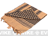 Matrix Woven Coalition Desert Shemagh / Scarves - (Dark Brown / Black)