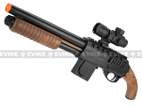 SoftAir Mossberg Licensed M3000 Sawed Off Airsoft Spring Shotgun with Red Dot Scope - (Black / Brown)