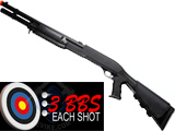 M3 3-Round Burst Multi-Shot Shell Loading Airsoft Riot Shotgun - Full Stock / CQC Barrel