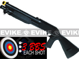 Double Eagle M3 3-Round Burst Multi-Shot Shell Loading Airsoft Shotgun (Model: Full Stock CQB)
