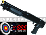 M3 3-Round Burst Multi-Shot Shell Loading Airsoft Riot Shotgun - CQB Pistol Grip Model