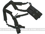 King Arms MP5 / MP7 / Sub Machine Gun Type Mag Pouch & Sling (Black)
