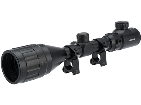 UFC 3-9X50 AOEG Illuminated Variable Zoom Rifle Scope with Scope Rings